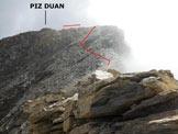 Via Normale Piz Duan - Cresta WSW - Ormai al termine della cresta aerea
