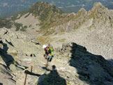 Via Normale Monte Aviolo - Catena in discesa