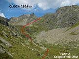 Via Normale Vetta Sperella (o Piz Sena) - Al vertice del ripido pendio erboso iniziale