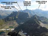 Via Normale Vetta Sperella (o Piz Sena) - Panorama di vetta, verso NE