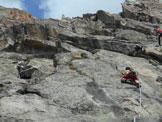 Via Normale Poncione di Cassina Baggio - Cima S (Via Tanti Auguri) - Lungo la bella fessura di L9