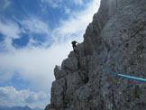 Via Normale Punta Frassenè - Lo spigolo poco prima della vetta