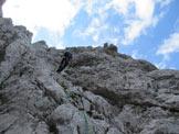Via Normale Punta Frassenè - Discesa dalla vetta