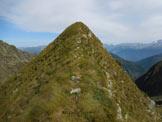 Via Normale Pizzo del Vento - dalla Val Tartano - L'ultimo tratto erboso della cresta S