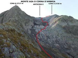 Via Normale Monte Aga - da Ambria