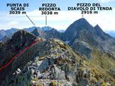 Via Normale Monte Aga - da Ambria - Panorama di vetta, verso E