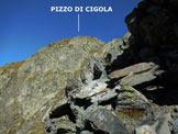 Via Normale Pizzo di Cigola - Sulla cresta SE del Pizzo di Cigola
