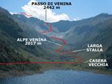 Via Normale Pizzo di Cigola - Cresta SW - Immagine ripresa dalla casa dei guardiani della diga del Lago di Venina