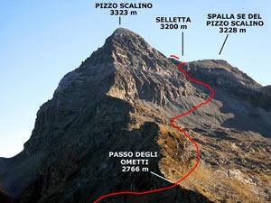 Via Normale Pizzo Scalino - dalla Val Painale