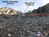 Via Normale Pizzo Scalino - dalla Val Painale - All'inizio del canale che conduce alla Selletta tra il Pizzo Scalino e la sua Spalla SE
