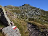 Via Normale Punta Setteventi - Tratto lungo il sentiero verso la sella