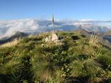 Via Normale Punta Setteventi - Il paletto sulla cima