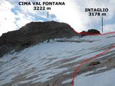 Via Normale Cima Val Fontana - In salita sul ghiacciaio