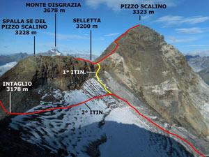 Via Normale Pizzo Scalino (traversata)