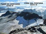 Via Normale Pizzo Scalino (traversata) - Panorama di vetta, verso E