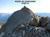 Via Normale Pizzo di Canciano - dal Cornetto - Sulla cresta WSW