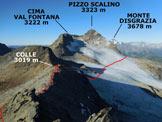Via Normale Pizzo di Canciano - dal Cornetto - Panorama di vetta, verso WSW