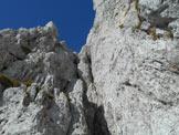 Via Normale Pizzo della Presolana Centrale (Via Bramani Ratti) - Nel camino finale