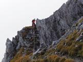 Via Normale Pizzo della Presolana Centrale (Via Bramani Ratti) - Lungo la cresta sommitale prima della vetta