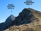 Via Normale Monte Acquanera - Sulla parte sommitale della facile cresta WSW