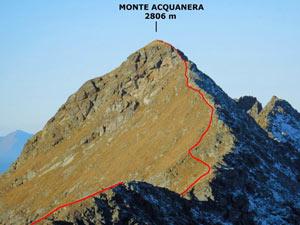 Via Normale Monte Acquanera - Cresta ENE