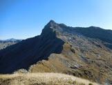 Via Normale Monte Acquanera - Cresta ENE - Panorama di vetta sul Pizzo Scalino