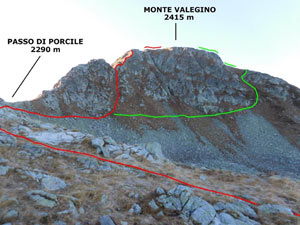Via Normale Monte Valegino