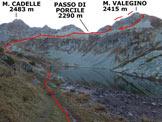 Via Normale Monte Valegino - Immagine ripresa al 3° Lago di Porcile