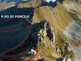 Via Normale Monte Valegino - Sulla cresta NNE