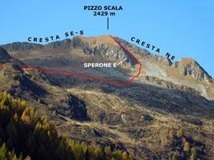 Via Normale Pizzo Scala - Vers. est