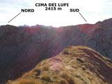 Via Normale Cima di Val Lunga - La Cima dei Lupi, dalla vetta della Cima di Val Lunga