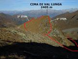 Via Normale Cima di Val Lunga - La Cima di Val Lunga, dalla vetta della Cima dei Lupi S