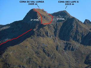 Via Normale Cima di Val Lunga - Cresta SW