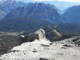Via Normale Cima de la Bèta - Foto dalla vetta verso il pinnacolo di roccia