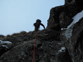 Via Normale Monte Legnone (Can. Ovest - Sovian) - La paretina di misto iniziale che porta al canale vero e proprio