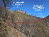 Via Normale Monte Palagia - La traversata che conduce alla Bocchetta di Calivazzo