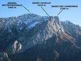 Via Normale Zucco Sileggio - Lo stupendo panorama di vetta, verso E