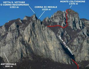 Via Normale Corna di Medale – Monte Coltignone