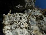 Via Normale Corna di Medale – Monte Coltignone - All'inizio della paretina attrezzata del M. Coltignone