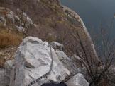 Via Normale Monte San Martino - Tratto attrezzato a picco sul lago