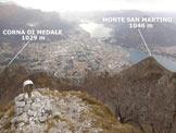 Via Normale Vetta San Vittore - Panorama di vetta, sulla città di Lecco