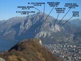 Via Normale Monte Barro  - Dalla vetta, panorama sul settore meridionale delle Grigne