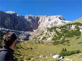 Via Normale Crodaccia Alta - In direzione del Cadin del ghiacciaio