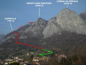 Via Normale Monte San Martino - Cresta Sud