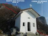 Via Normale Monte San Martino - Cresta Sud - Immagine ripresa alla cappelletta della Madonna del Carmine (q. 746 m)