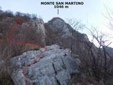 Via Normale Monte San Martino - Cresta Sud - In salita, lungo la cresta S
