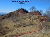 Via Normale Monte Magnodeno - da Nord - Lungo la cresta NNE del Magnodeno