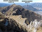 Via Normale Monte Magnodeno - da Nord - Il Monte Magnodeno dalla Cresta Giumenta