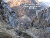 Via Normale Monte Magnodeno - Resegone - Il Passo del Fó e il Rif. Ghislandi, dalla parte inferiore della Via del Caminetto