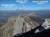 Via Normale Monte Magnodeno - Resegone - Panorama di vetta, verso NNW